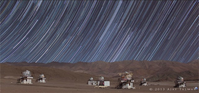 I wish stars really left these mesmerizing star trails in the night sky