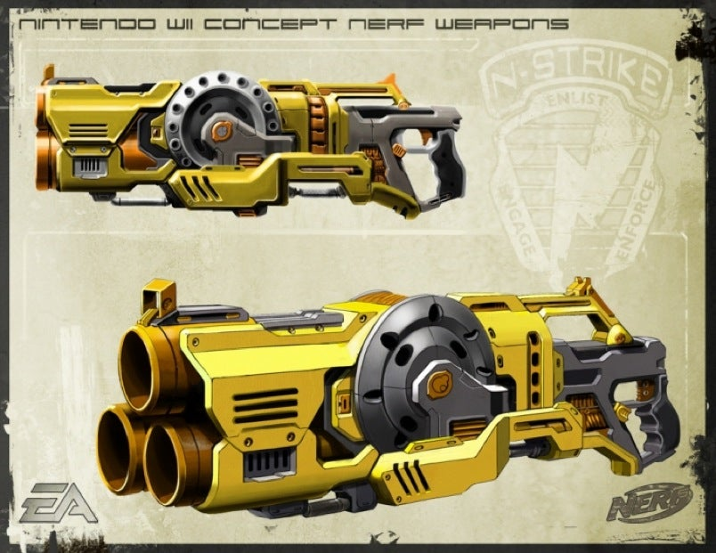 Wicked wii nerf n strike concept weapons