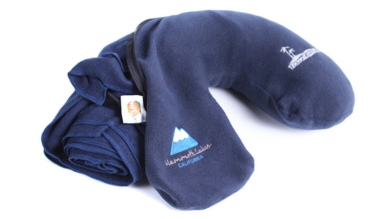Every Travel Pillow Should Have a Fleece Blanket Hidden Inside