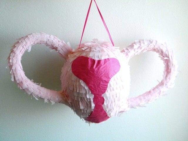 For Natural Period Pain Relief, Pummel This Uterus Piñata