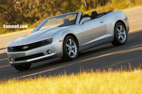2010 Chevy Camaro Convertible Production Press Shots?