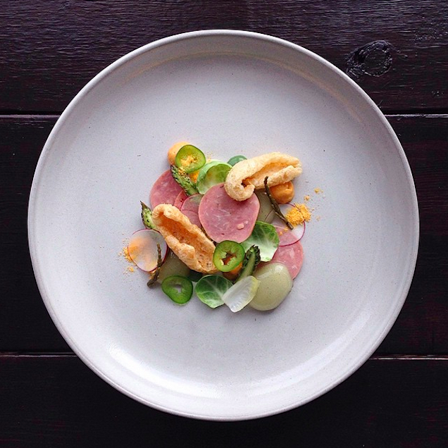 These perfectly plated fine dining dishes are actually for Art de cuisine plates