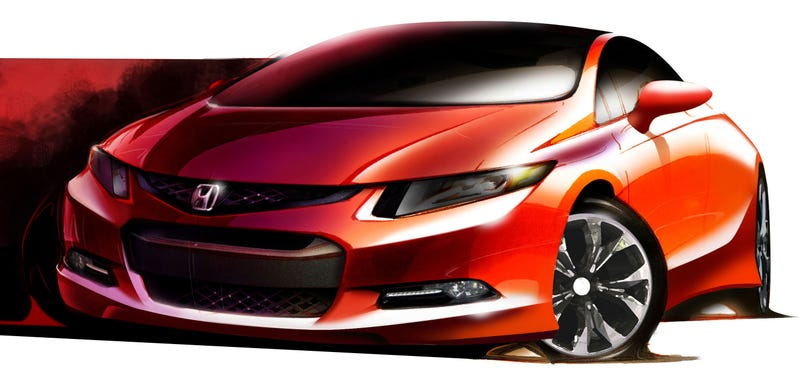 New Honda Civic Concept Too Curvy To Be Real