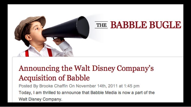Mommyblogging Goes Corporate As Babble Is Sold To Disney