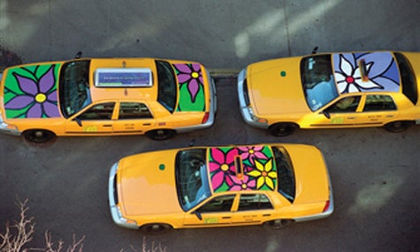 12,700 NYC Taxis To Get Cheerful Floral Designs