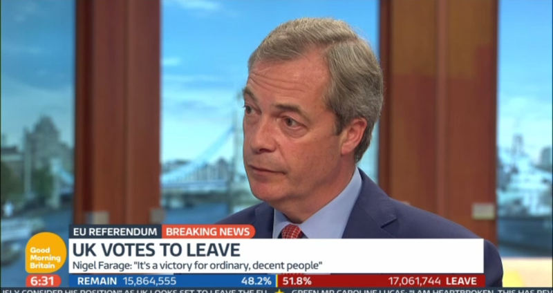 "Hours After Brexit Vote, Leader of ""Leave"" Movement Admits One Major Promise Was a Sham"