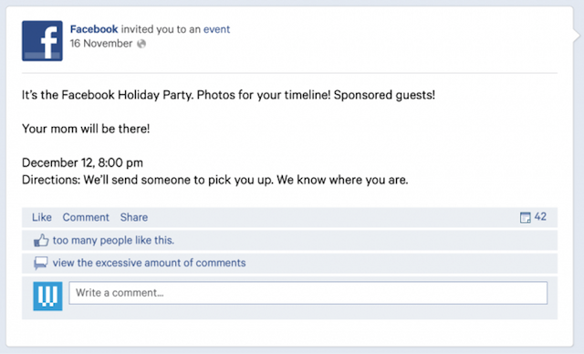 If Tech Companies Made Holiday Party Invitations, They Would Look Like This