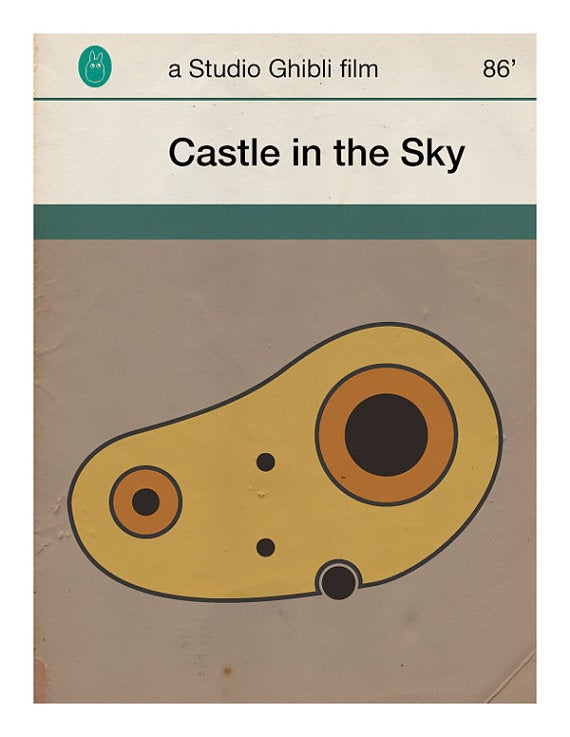 Miyazaki's films reimagined as dog-eared Penguin book covers