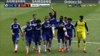 Drogba Carried Off By Teammates In Final Chelsea Match