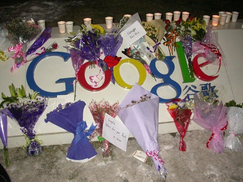 Chinese Citizens Hold Memorial For Google As It Awaits Execution