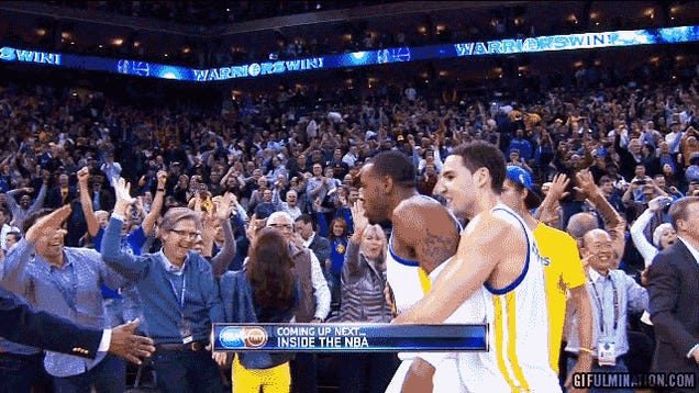 Andre Iguodala Leaves Some Rich Dudes Hanging On A High Five