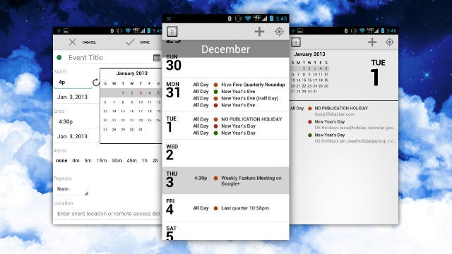 Agenda for Android Gives You a Clean, Minimalist View of All of Your Appointments and Calendars