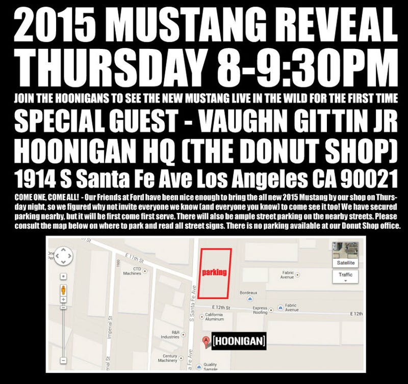 Hoonigan Invites You To Paw At The New Mustang In LA