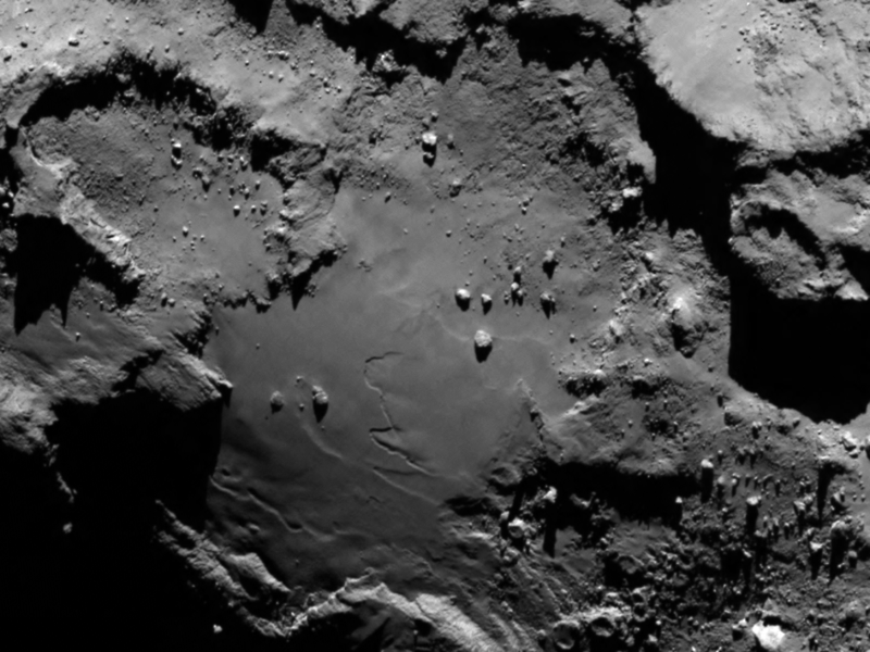 The surface of a comet seen up close for the first time ever