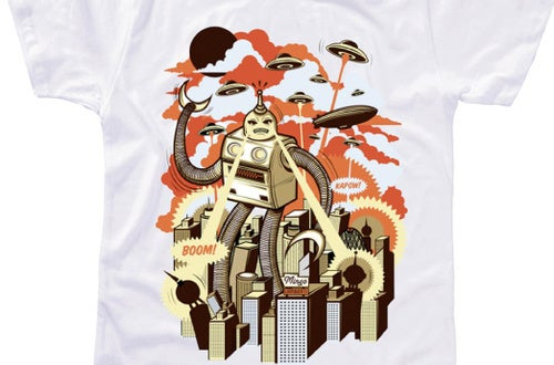 The giant robot rampage is here — wear it with pride!