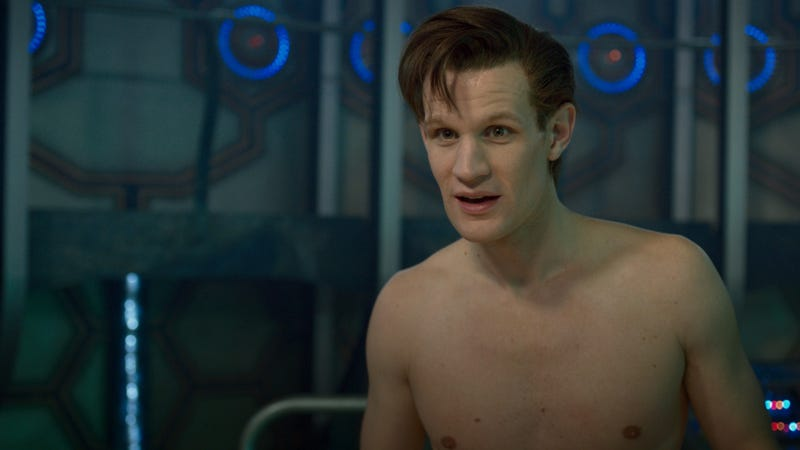 The latest two pictures from The Time of The Doctor are... interesting