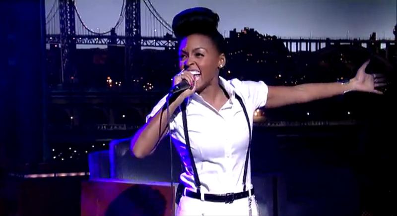 Janelle Monáe Danced on the Desk During Last Night's Letterman
