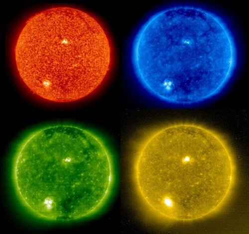 Welcome Back Sunspots With The Many Colors Of Solar Pop Art