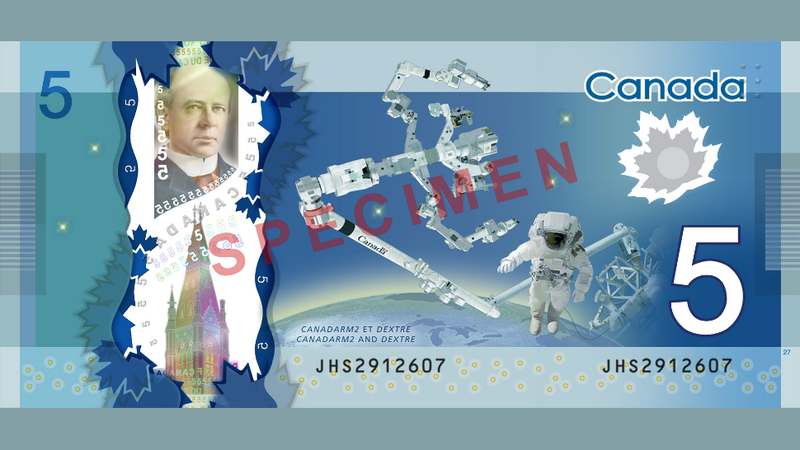 Canada unveils its sweet new space-themed $5 bill in space