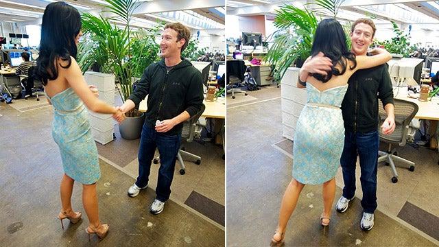 Katy Perry Meets Mark Zuckerberg