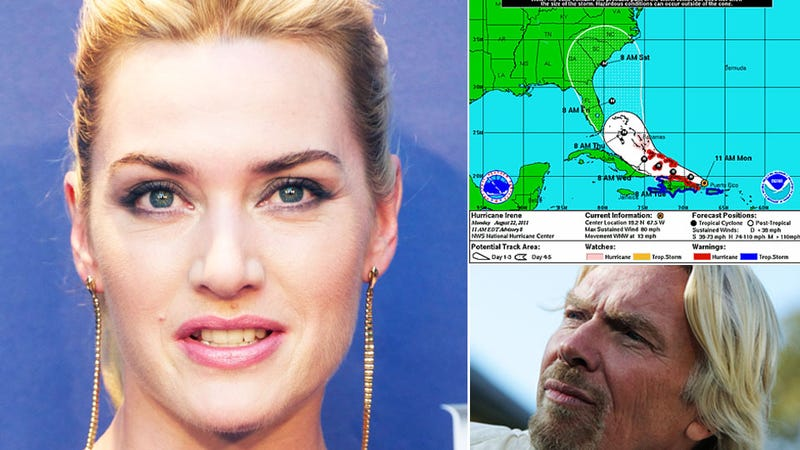 Kate Winslet Escapes Fiery Hurricane Hell on Richard Branson's Island