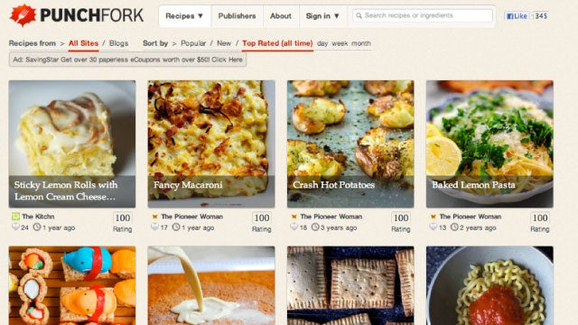 Punchfork Presents and Ranks the Most Popular Recipes Around the Web