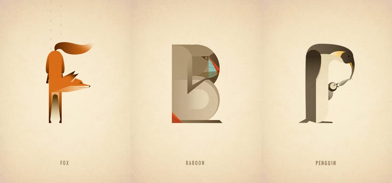 N is for Narwhal: Beautiful Animal-Inspired Typography