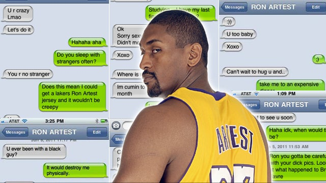 My Frustrating Sexting Sessions With Ron Artest