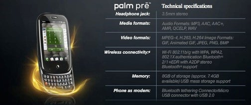 Palm Pre Spec Sheet Confirms Tethering, But At What Cost?