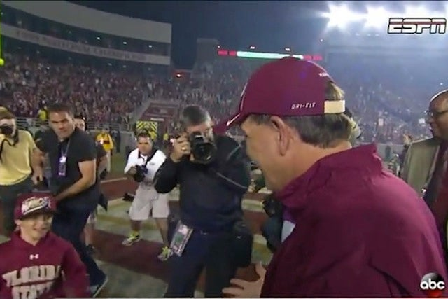Nike To Jimbo Fisher: Get Rid Of Your 9-Year-Old's Under Armour Sweater