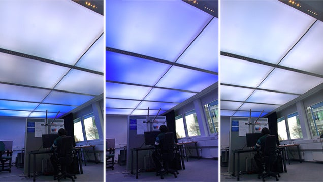 animated sky ceiling lights make your cubicle slightly