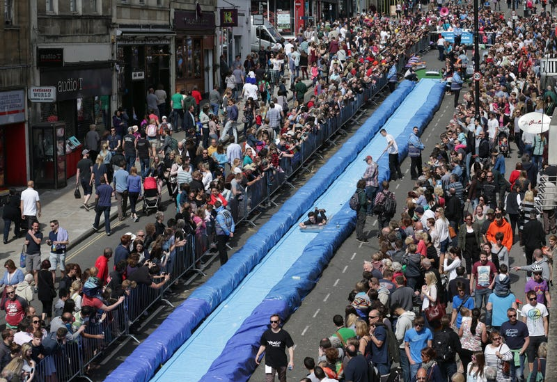 This Is What Happens When You Turn a Street Into a Slip 'n Slide