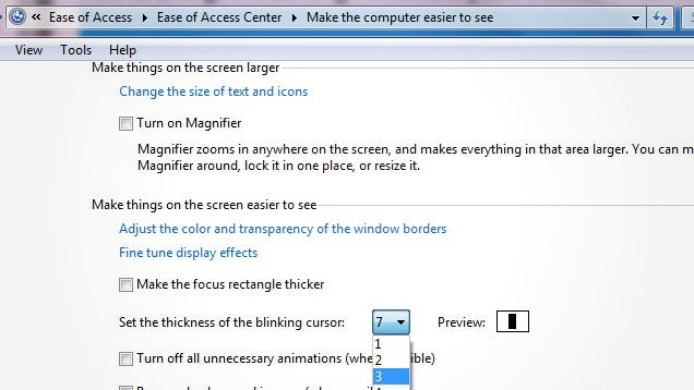 Make Your Windows Type Cursor More Visible by Increasing Its Thickness