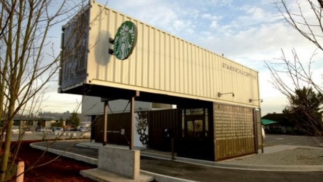 Starbucks Builds a Drive-Through Out of Shipping Containers