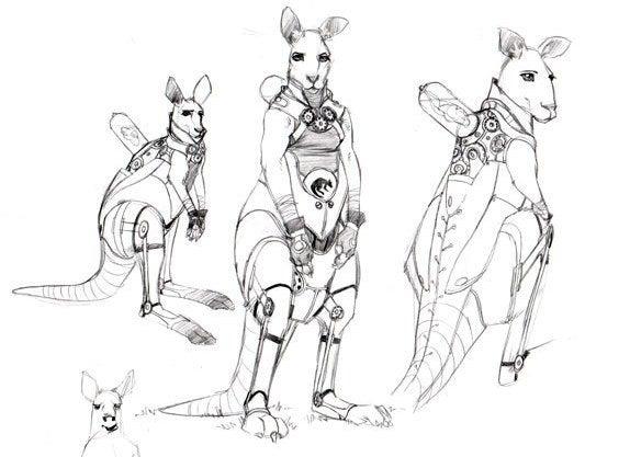 Robo-Kangaroos from the Terraformed Australian Outback
