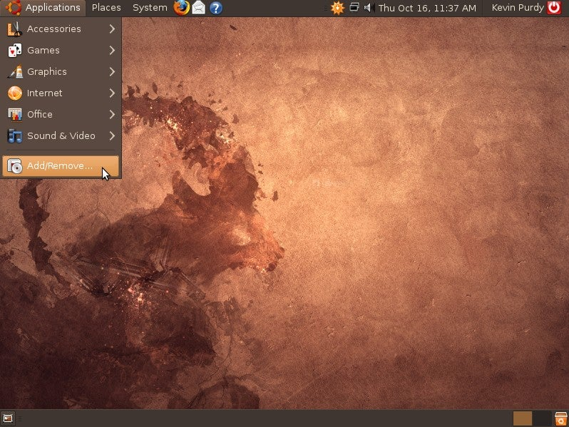 Ubuntu 8.10 Gets Optional DarkRoom Theme