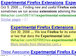 Four Experimental Extensions to Power Up Firefox