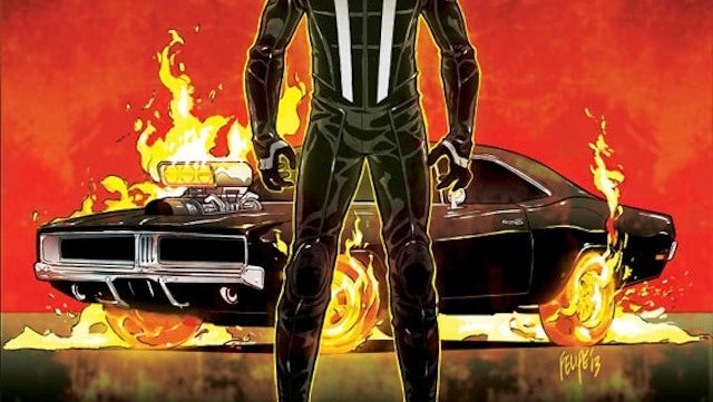 The new Ghost Rider is ditching his motorcycle for a car