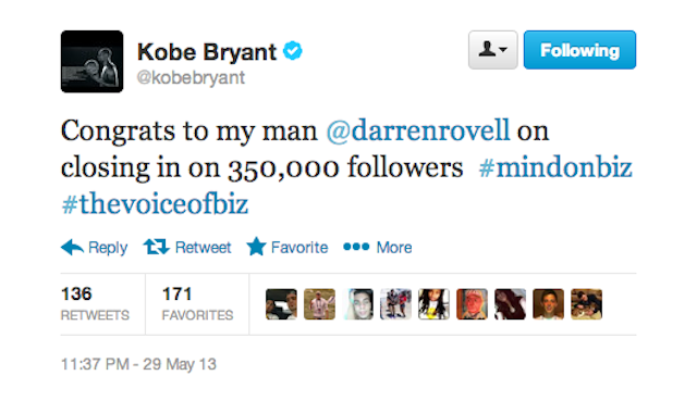 "Kobe On Rovell: ""The Voice Of Biz."" Oh My God, I Am Dying"