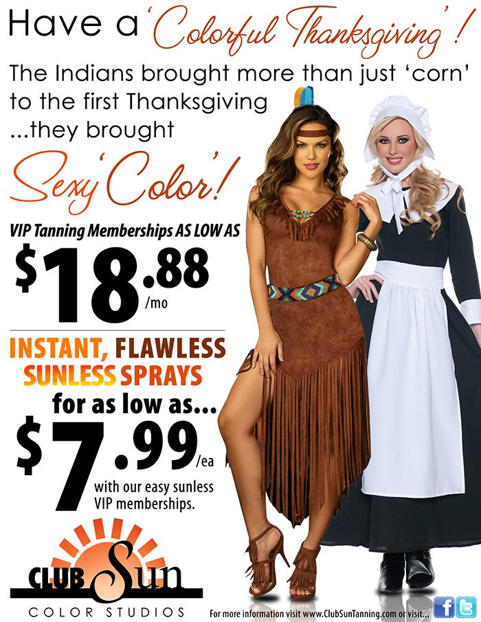 Tanning Salon Is Super Thankful Native Americans 'Brought Sexy Color'