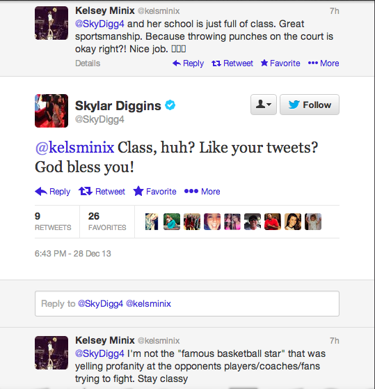 Girls' Basketball Game Turns Ugly With Some Help From Skylar Diggins