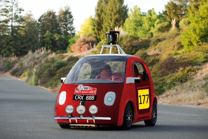Let's Photoshop The Google Car In Famous Race Liveries.