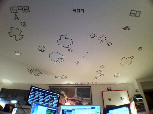Princess Leia On The Wall, Asteroids On the Ceiling