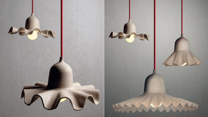 No Eggs Were Harmed in the Making of These Cardboard Lamps