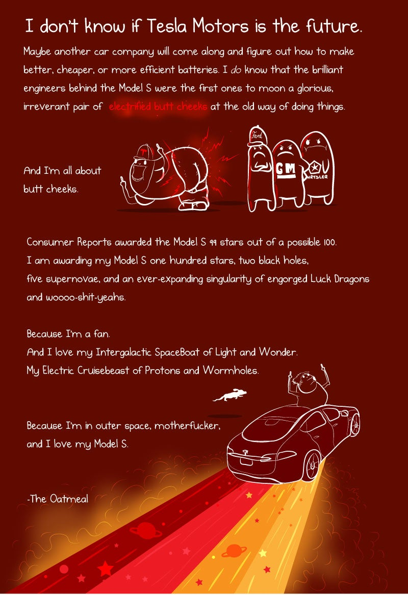 The Oatmeal Explains Tesla Ownership Better Than Anyone Else