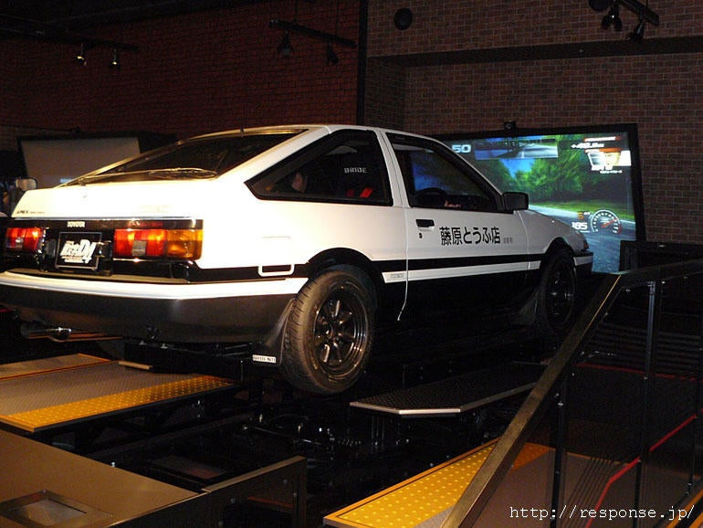 Japanese Initial D Arcade Booth Features Actual Tofu Car