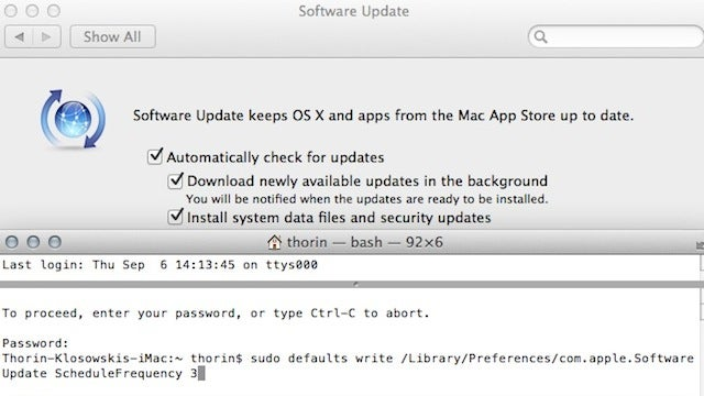 Set OS X Mountain Lion's Update Frequency to Any Schedule You Want