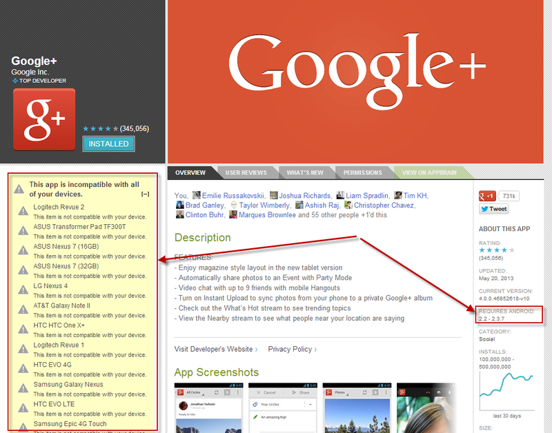 Error Leaves Google Plus Available to Froyo and Gingerbread Users Only
