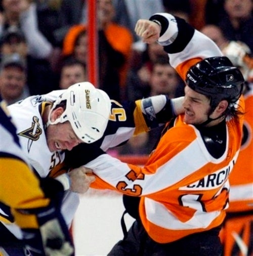 It Takes Two Fights, But Hockey Pugilists Finally Get It Right