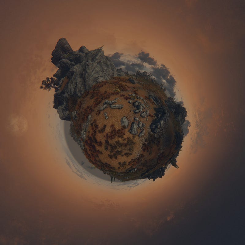 Skyrim, Smooshed Into Teeny Tiny Little Planets